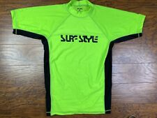 Surf Style Shirt Nylon/spandex Small Green T