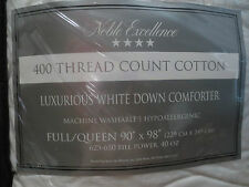 Nobel Excellence White Down-Filled Comforter 400 Thread Count full/queen size