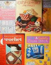 5 Craft Books - Knitting, Crochet, Cross Stitch Fashion - Vogue Donna Kooler