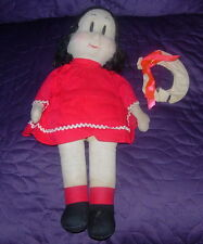 GEORGENE  LITTLE LULU  CLOTH DOLL  VINTAGE  C. 1950  MARGE  COMIC CHARACTER