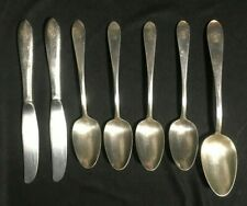 "Vintage Hotel Silver Plate Flatware ""Boca Raton Club"" Lot of 7 Pieces"