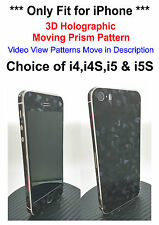 3D Holographic Moving Prism Pattern Decal Skin Sticker For iPhone 4, 4S, 5, 5S