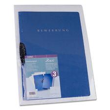 Bewerbungsmappen Bewerbungsset Pagna blau mit Versandtaschen mit Kartonrücken