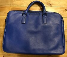 Marc By Marc Jacobs Men's Blue Classic Leather Briefcase Bag