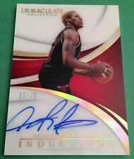 DENNIS RODMAN #32/49 INDUCTIONS HOF ON CARD AUTO 2017-18 PANINI IMMACULATE BULLS
