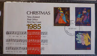 1985 NEW ZEALAND CHRISTMAS SET OF 3 STAMPS FDC FIRST DAY COVER