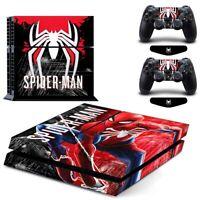 Spider-Man Super Hero Vinyl Aufkleber Skin fur Sony PS4 Konsole & 2 Controllers