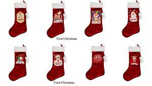 Personalised Luxury Red Christmas Stocking Choose Design  #2