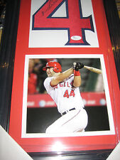 MIKE NAPOLI  AUTOGRAPH Number Angles  Framed Ready to hang-