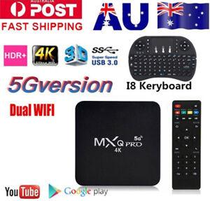 Android 11.0  5G MXQ PRO 4K QuadCore DUAL-WiFi 3D Smart TV Box Media Player HDMI