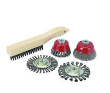 NEW 5 Piece Twist Knot WIRE CUP WHEEL BRUSH KIT ANGLE GRINDER ACCESSORY TOOL SET