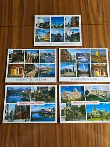 Selection of 5 Postcards of Dublin (Ireland) (set 4)
