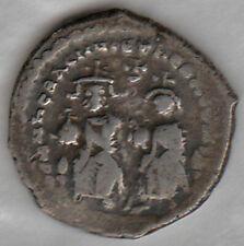 HERACLIUS (610-641AD) AR Hexagram Heraclius / Cross on Globe 3 step VF BYZANTINE
