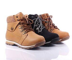 Fashion Light weight Adjustable Military Lace Up Wedge Ankle-High Womens Boots