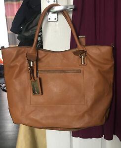 Vintage Jane Norman Tan  Leather Tote bag