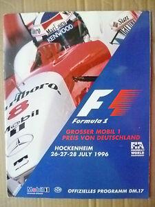 1996 Formula 1 Grosser Mobil 1 Preis Von Deutschland Hockenheim 26,27,28 July