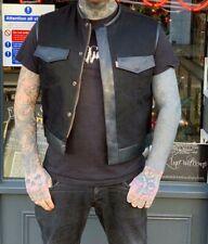 Kragenloses Denim Weste-Hells Angels Support Gear-Big Red Machine London