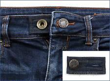 Blue Denim Pants Shorts Jeans Trouser Waist Line Extender Widen Expand Button