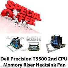 Dell Precision T5500 2 Cpu Memoria Elevador de disipador térmico y ventilador de procesador Xeon Lga1366 f623f