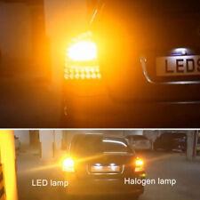 2 Amber Orange 1156 P21W 3157 BA15S 15-SMD 2835 LED Bulbs For Turn Signal Lights