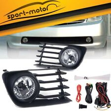 for 2004-2009 Toyota Prius Clear Fog Light Front Bumper Lamps+Wiring+Switch PAIR