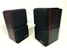 New listing Pair (2) Bose Redline Black Double Dual Cube Satellite Speakers Acoustimass