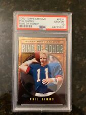 2002 Topps Chrome Ring Of Honor #PS21 PHIL SIMMS........PSA 10!