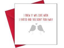 BIRTHDAY ANNIVERSARY CHRISTMAS VALENTINES LOVE CARD Funny Rude Funny / KQ