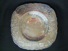 1939 Commemorative King George VI & Queen Elizabeth Silver Plate Canada