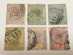 old stamps  SIERRA LEONE    x  6