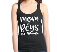Mom of Boy Racerback Tank Top Mother's Day Family Love Mom Gift Tee