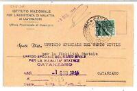 Luogotenenza - Re di Maggio - viaggiata per Catanzaro - 31 - 05 - 1946