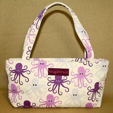 NWT BUNGALOW 360 Octopus Vegan Canvas Mini Tote 70108-OC Cream Purple Graphics