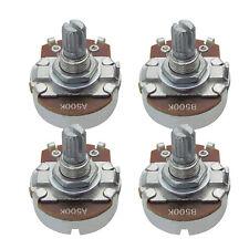 2PCS A500k 2PCS B500k Guitar Pots Full Size Short Split Shaft Potentiometers