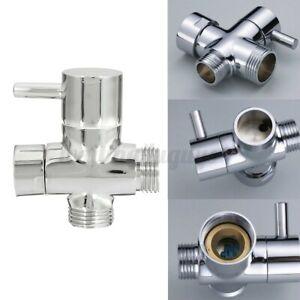 "3 Way T-adapter T-Valve Arm Mounted Bathroom Diverter Shower Head Splitter G1/2"""