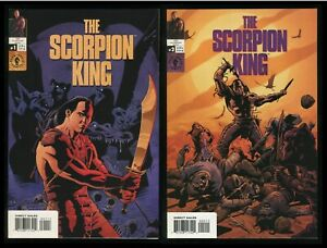 Scorpion King Art Cover Comic Set 1-2 Lot Prequel to Dwayne Johnson 2002 Movie