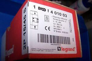 Legrand 401003 Disjoncteur de Branchement Enedis Bipolaire Différentiel, 500mA