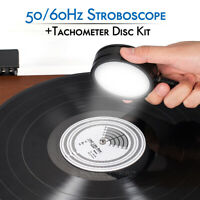 50/60Hz Stroboscopic Speed Strobe Light+Tachometer Disc for Turntable LP Records