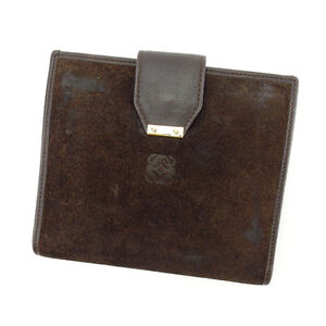 Loewe Wallet Purse Bifold Brown Woman Authentic Used E913