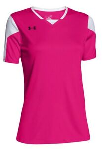Under Armour Women's Maqunia Tropic Pink Jersey Short Sleeve Size Small