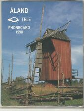 Aland Finland 1990 Set of 2 Phone Cards in Folder Mint