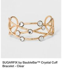 Sugarfix by BaubleBar Women's Crystal cuff bracelet - gold color