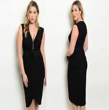 D95 Womens Size 14/16 Black Cocktail Evening Wedding Party Pencil Dress Plus