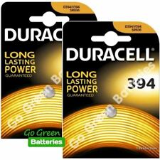 2xDuracell 394 1.5V Silver Oxide watch battery D394 V394 V524 SR45 AG9 625 SR936
