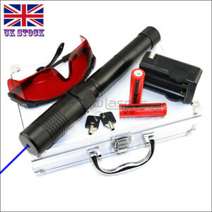 BX1-II 1MW 450nm Visible Blue Laser Pointer High Power Laser Torch Lazer Pen UK