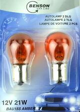 Autolampen 2 tlg. orange 12V - 21W Leuchte Licht Blinklicht Lampe Birne