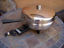 "Vintage Farberware FSS 300 12"" Electric Skillet Fry Pan w High Dome Lid"