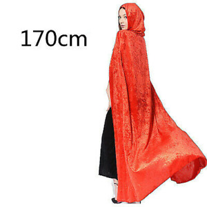 Girl Lady Hooded Cloak Long Robe Witch Capes Wizard Prince Princess Costume Chic