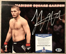 "Khabib ""The Eagle"" Nurmagomedov Signed 8x10 Photo UFC MMA BAS Lightweight Champ"