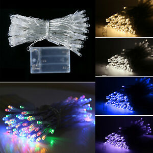 10/20/30/40/50/100 LED String Lights Battery Operated Fairy For Holiday Party UK